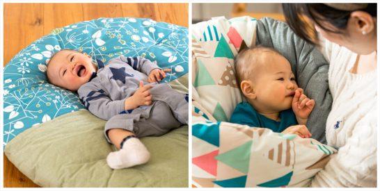 赤ちゃんのリビング家具、居場所にはざぶとんがおすすめ